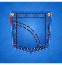 jeans pocket background vector image