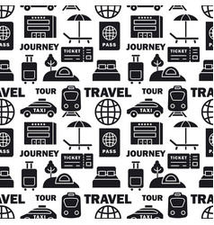 journey seamless pattern vector image