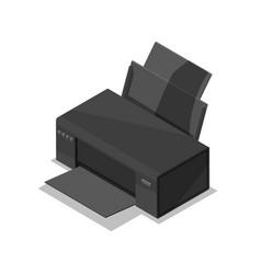 Laser printer isometric 3d icon vector