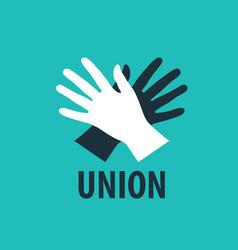 logo handshake vector image