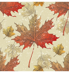 maple leaves seamless vector image