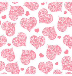 monochrome pink seamless valentine pattern on vector image