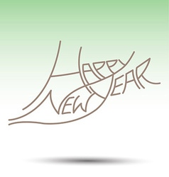 New Year fonts beautifully designed vector image