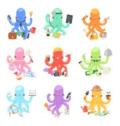 octopus in business octopi vector image