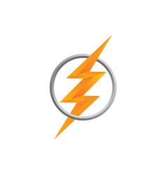 orange thunder bolt sign logo vector image