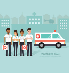 paramedics medical staff vector image