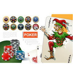 realistic casino and gambling concept vector image