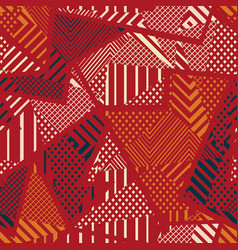 red color tribal seamless texture vector image