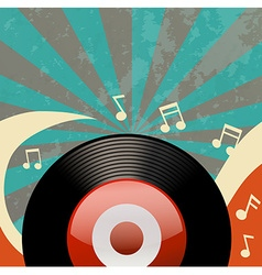 Retro design with disk recorder vector