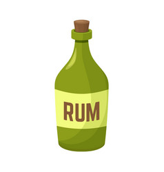 Rum and bottle sign vector