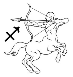 Sagittarius zodiac horoscope astrology sign vector