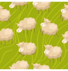 Seamless lamb background vector image
