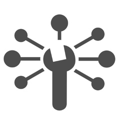 Service Relations Flat Icon vector