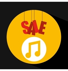 Shopping cart sale music icon vector