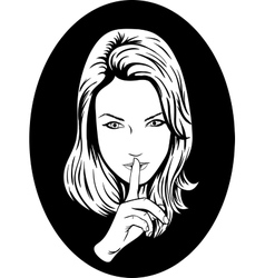 Silence Girl vector