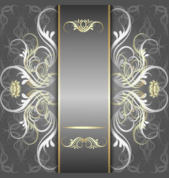 silver background with elegant pattern vector image