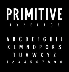 Simple font 001 vector