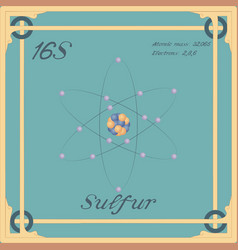 Sulfur colorful icon vector