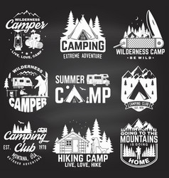 summer camp concept vector image