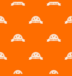 tasty pizza sign pattern seamless vector image