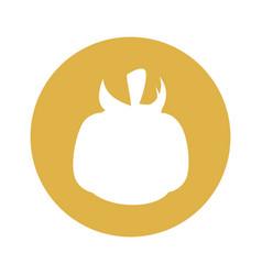 Tomato round icon vector