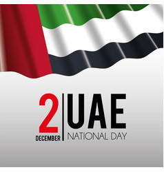 Uae flag to celebrate national patriotic day vector