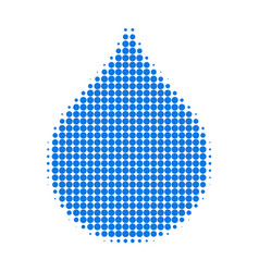 Water drop halftone dotted icon vector