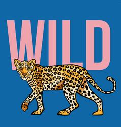 wild leopard print vector image