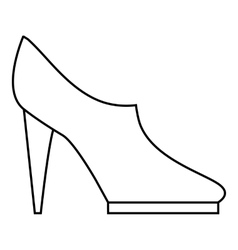 Women high heeled shoes icon outline style vector