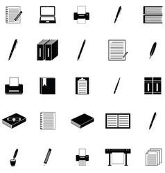 Writer icon set vector