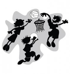 funny basketball vector image vector image