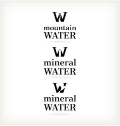 Set water symbol vector image vector image