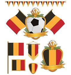 Belgium flags vector