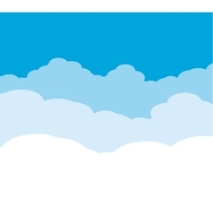 Cloudy Background on blue sky vector image