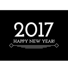 Creative Happy New Year 2017 background vector image vector image
