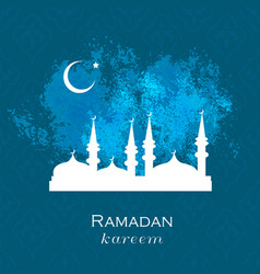 ramadan greetings background vector image