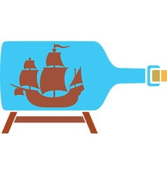 Ship in a Bottle Icon vector image vector image