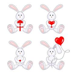 Valentine bunnies vector