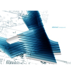 abstract architectural background vector image