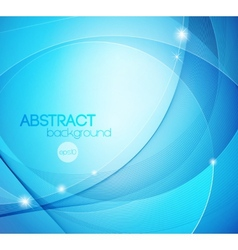 Abstract blue shiny template background vector image vector image