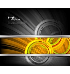 Bright background with circles vector image vector image