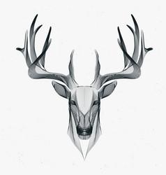 deer particle vector image