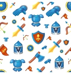 Medieval weapons seamless cartoon background vector image vector image