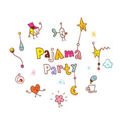 Pajama party vector