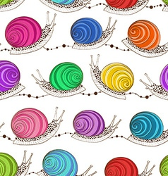 Seamless pattern of snails vector image vector image