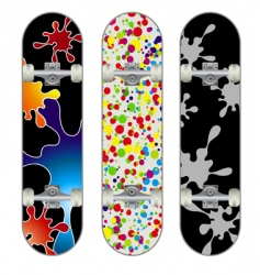 three skateboard designs vector image vector image