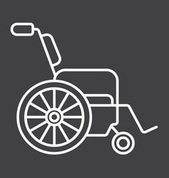 wheelchair line icon medicine and healthcare vector image