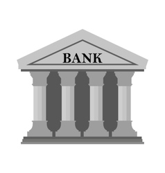 Bank icon on White Background vector image vector image