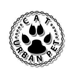 cat-urban pet vector image