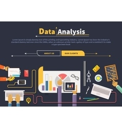 Concept of business Data collection Analysis vector image vector image